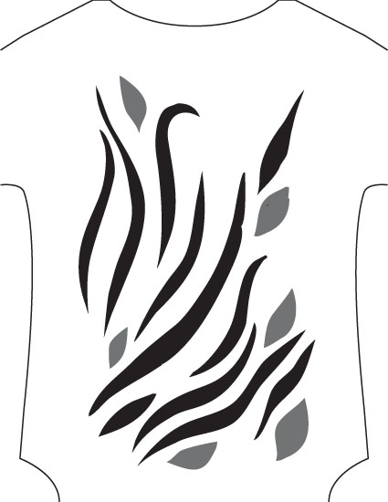 flames stencil